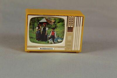 kleines Plastiskop 8 Schwarzwald Motive grüner Fernseher 1960er//70er //S184