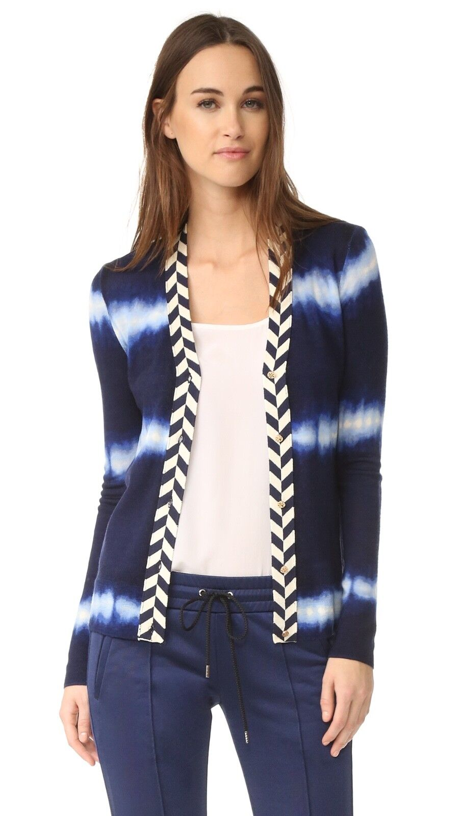 Tory Burch Lorna Tie Dye Cardigan Sweater S 2 4  Resort 2017 NWT