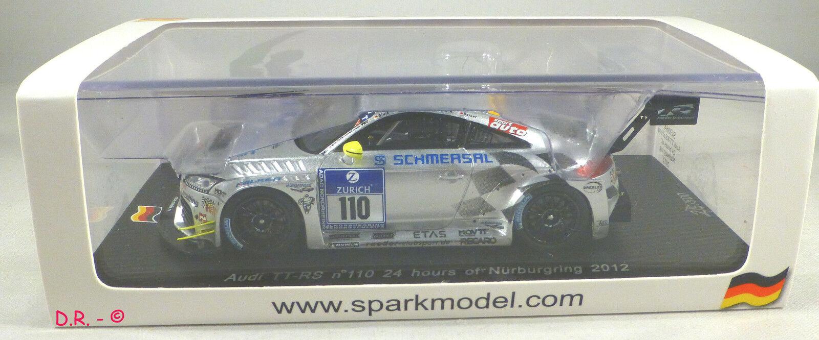 AUDI TT RS  110 Kaiser-Sluis TEAM RAEDER 24H NURBURGRING 2012 pcs 500 SPARK 1 43