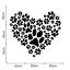 Paw-Prints-Heart-Wall-Art-Sticker-Vinyl-Decal-Mural-Decor-Animal-Dog-Love-Pet thumbnail 2