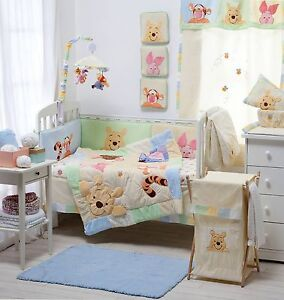 Image Is Loading 4 Pices Baby Crib Bedding Set Hiding Pooh