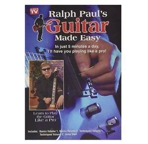 ralph paul 39 s guitar made easy dvd brand new learn guitar fast how to play 40282249285 ebay. Black Bedroom Furniture Sets. Home Design Ideas