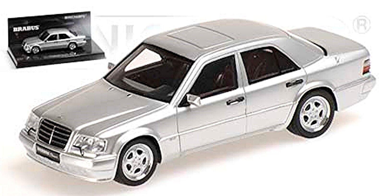 BRABUS 6,5 V8 - 1993 MERCEDES 500E W124 silver silver métallique 1 43 Minichamps