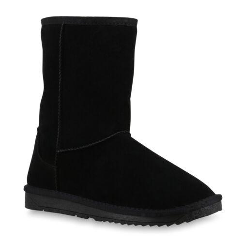 Warm Gefütterte Damen Stiefel Schlupfstiefel Boots Winter 814401 Schuhe
