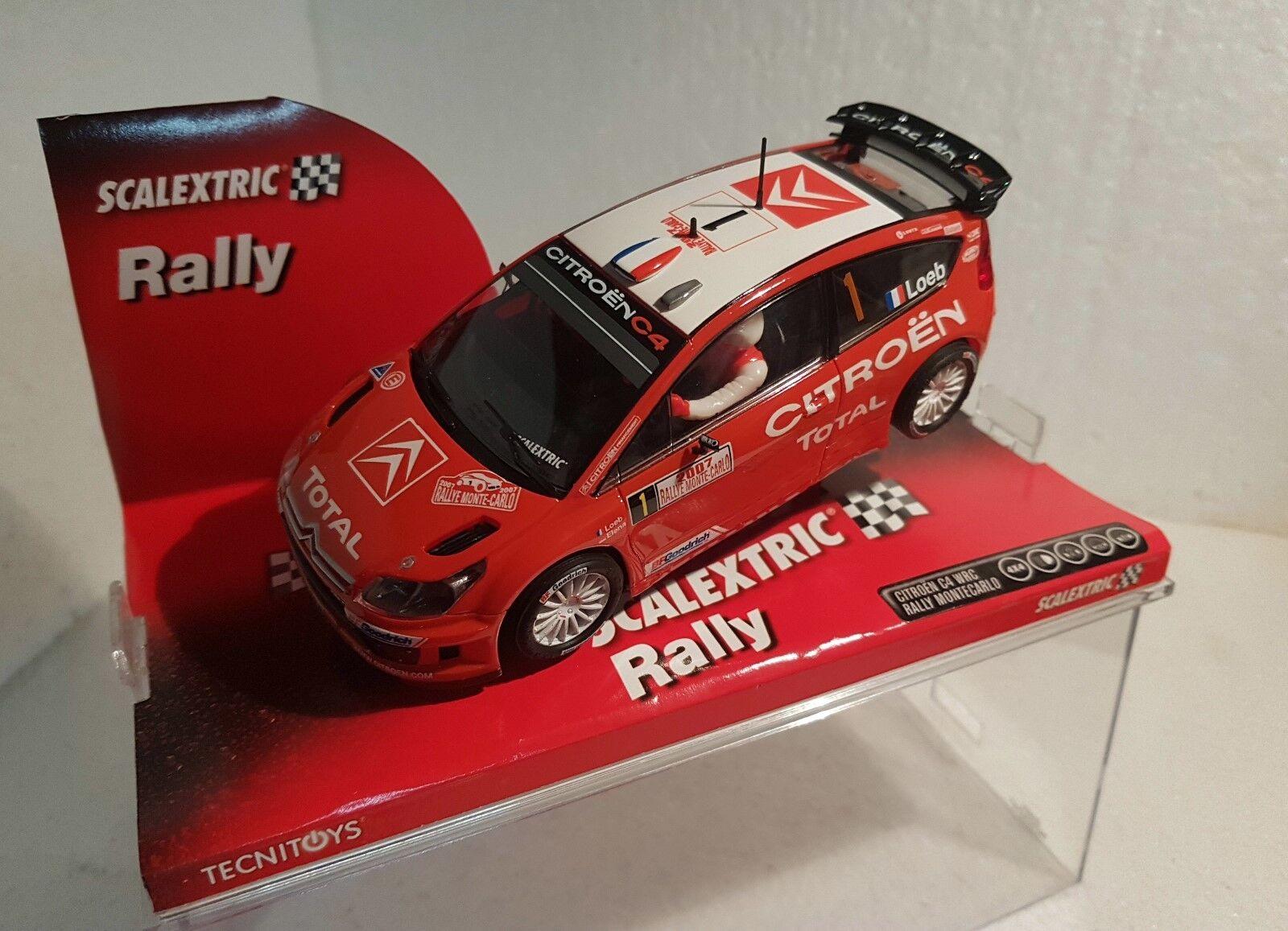 Qq 6256 SCALEXTRIC CITROEN C4 WRC LOEB RALLY MONTE CARLO 2007