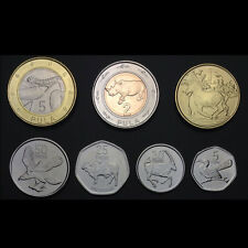 Botswana Set 7 Coins,5+10+25+50 Thebe +1+2+5 Pula, 2013, UNC