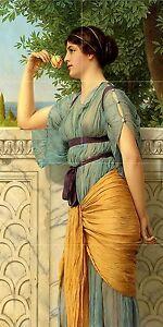 MEMORIES-J-Godward-girl-woman-flower-Tile-Mural-Backsplash-Art-Marble-Ceramic