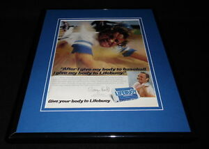 George Brett Facsimile Signed Framed 1981 Lifebuoy 11x14 Advertising Display