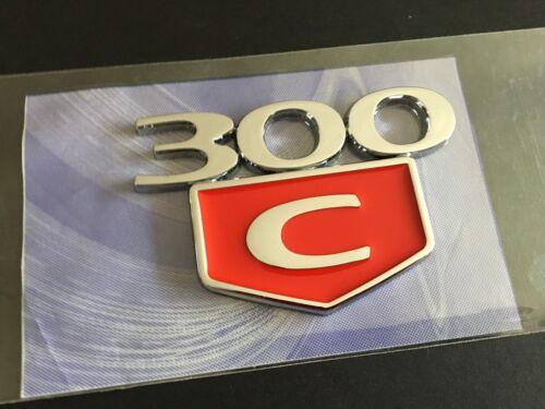 NEW 300C Emblem 3D Badges Trunk Fender Decal Chrome Red