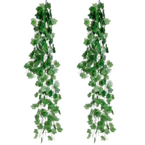 Green Artificial Fake Hanging Ivy Vine Plant Leaves Garland Garden Decoration