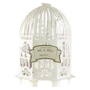 Kartenbox Hochzeit Glas.Details Zu Geschenke Dekobox Vogelkafig Ivory Briefbox Fur Karten Kartenbox Hochzeit