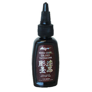 Details about Authentic Kuro Sumi Double Sumi Tribal Black Japanese Tattoo ink 1oz MADE IN USA
