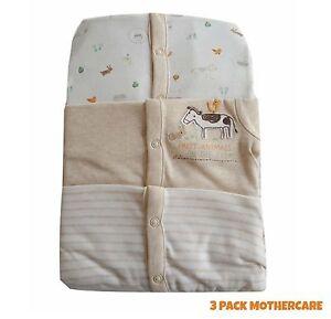 Baby-Boys-Girls-3-Pack-Babygrow-Sleepsuit-Unisex-100-Cotton-TinyB-24-36-NEW