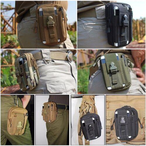 Outdoor Tactical Molle Pouch EDC Utility Gadget Belt Waist Bag Hiking Waterproof