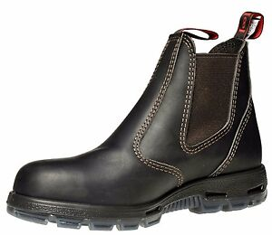 4fe8864b261 Details about Redback Bobcat Elastic Sided Claret Oil Kip Steel Toe Work  Boots USBOK