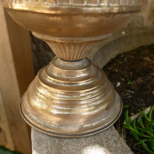 Amphore Pokal Blumentopf Pflanztopf Pflanzschale Ornament Vintage Gold 23 cm Ø