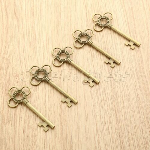 Antique Bronze Gift Jewelry Making Skeleton Key Charms Pendant Findings 62*28mm