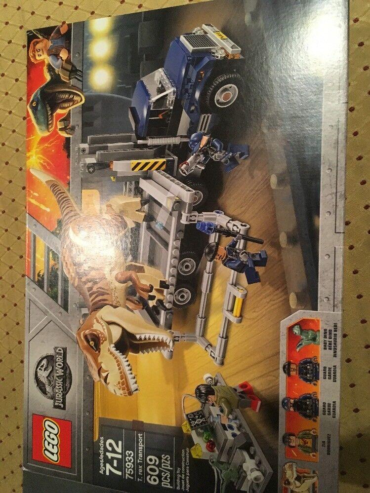 Nuovo LEGO JURASSIC WORLD FALLEN KINGDOM T. REX TRANSPORT 75933