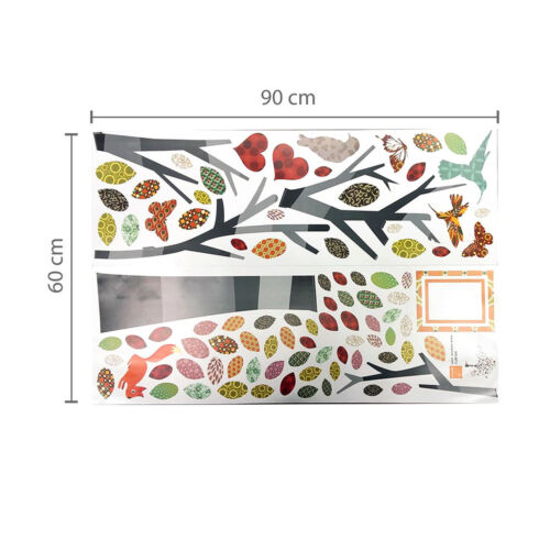 Photo Frame Colorful Tree Wall Art Stickers Children Nursery Decals Wallpaper