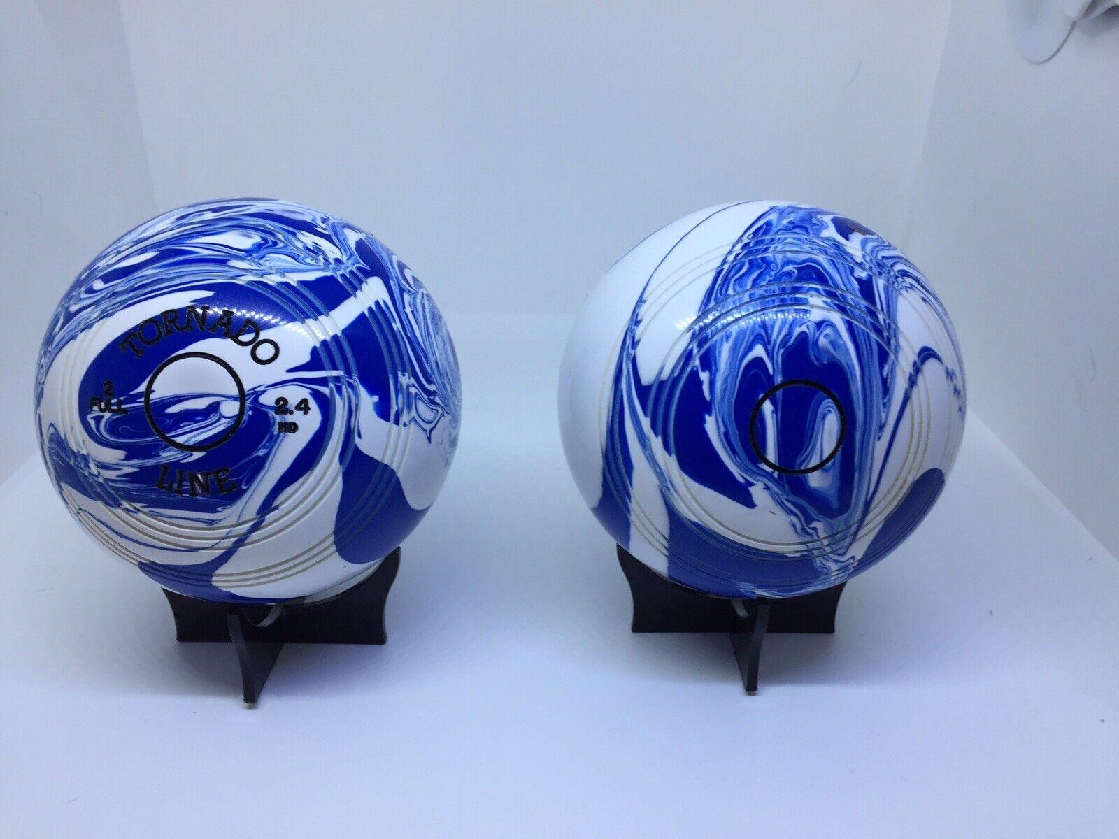 Crown Green Bowls bluee White Marble 2.8 HD