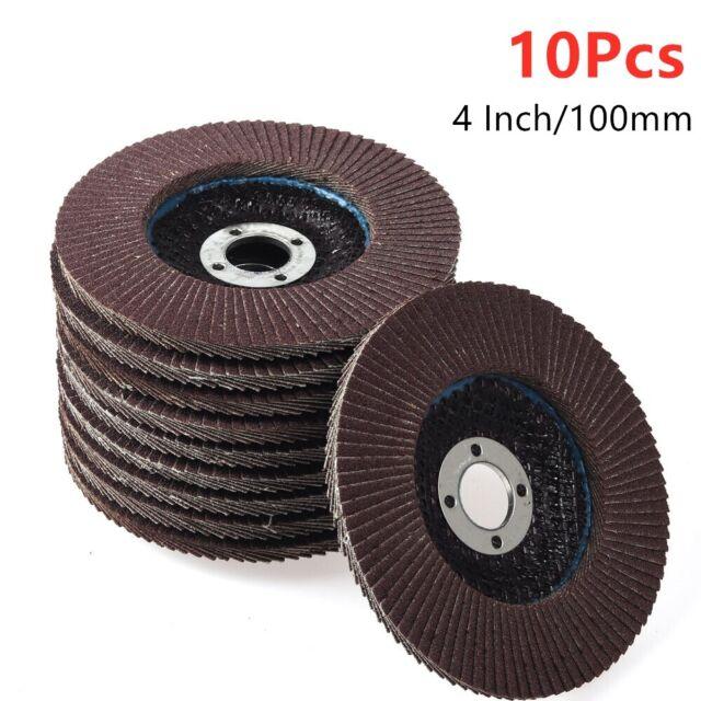 "2Pc 4/"" 100mm Flap Sanding Disc Round Sandpaper Polishing Grinding Wheel 80 Grit"