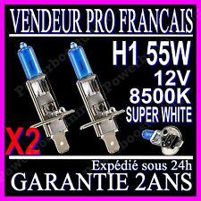 2 AMPOULE PAIRE LAMPE HALOGENE FEU PHARE XENON GAZ SUPER WHITE H1 55W 8500K 12V