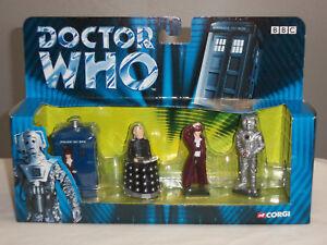 Corgi Ty96202 Dr Doctor Who Série Tv Série Davros Tardis Cyberman Figurine En Métal 807903962028
