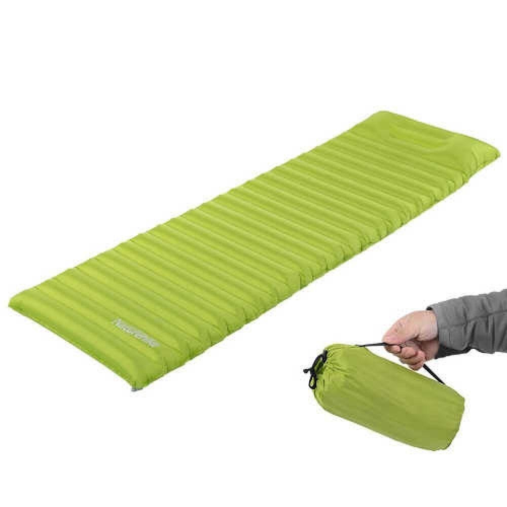 Naturehike Zelten Luft Matratze Einzeln Grün + Luft Kissen Japan Mit