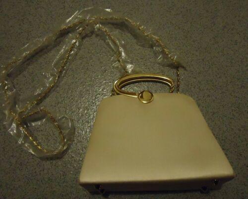 Fabric Bag Vintage Farfalla Cross Coloured Beige chain Body Gold Steel Handle TBTvEwq