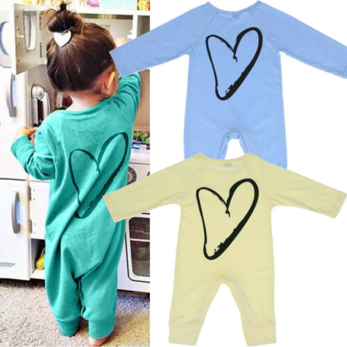 Newborn Infant Kids Baby Boys Girls Printing Romper Jumpsuit Outfits Clothes