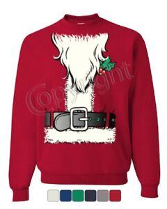 Santa-039-s-Jacket-Sweatshirt-Santa-Claus-Christmas-Xmas-Sweater