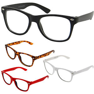 Small Glasses Frame Size : Small KIDS SIZE Retro Color Frame Clear Lens Glasses NERD ...