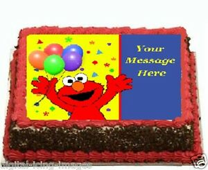 Image Is Loading Elmo Sesame Street Cake Topper Edible Icing
