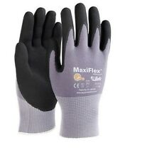 (12) PAIRS MEDIUM  G-TEK MAXIFLEX NITRILE FOAM COATED GLOVES GTEK 34-874 ATA CUT