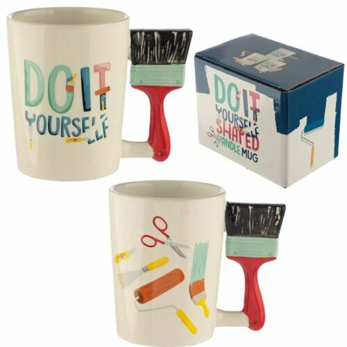 PAINTER AND DECORATOR DIY TOOLS 3D PAINT BRUSH HANDLE COFFEE MUG CUP NEW