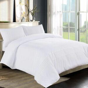 Calidad-de-hotel-Bordado-Blanco-Cubierta-Del-Edredon-Edredon-Juego-de-cama-doble-King-Size-Uk
