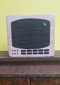 Das Bild Wird Geladen Fernseher Aus Holz Fuer Puppenstube Puppenhaus Deko  Zubehoer