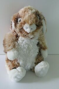 Dan-Dee-Brown-and-White-Bunny-Rabbit-Plush-Stuffed-Animal-Floppy-Ears