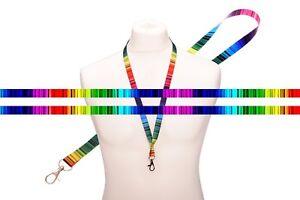 Multicolore Rainbow LINEE DI RASO CORDINO tracolla multifunzione Clip Metallo Supporto  </span>