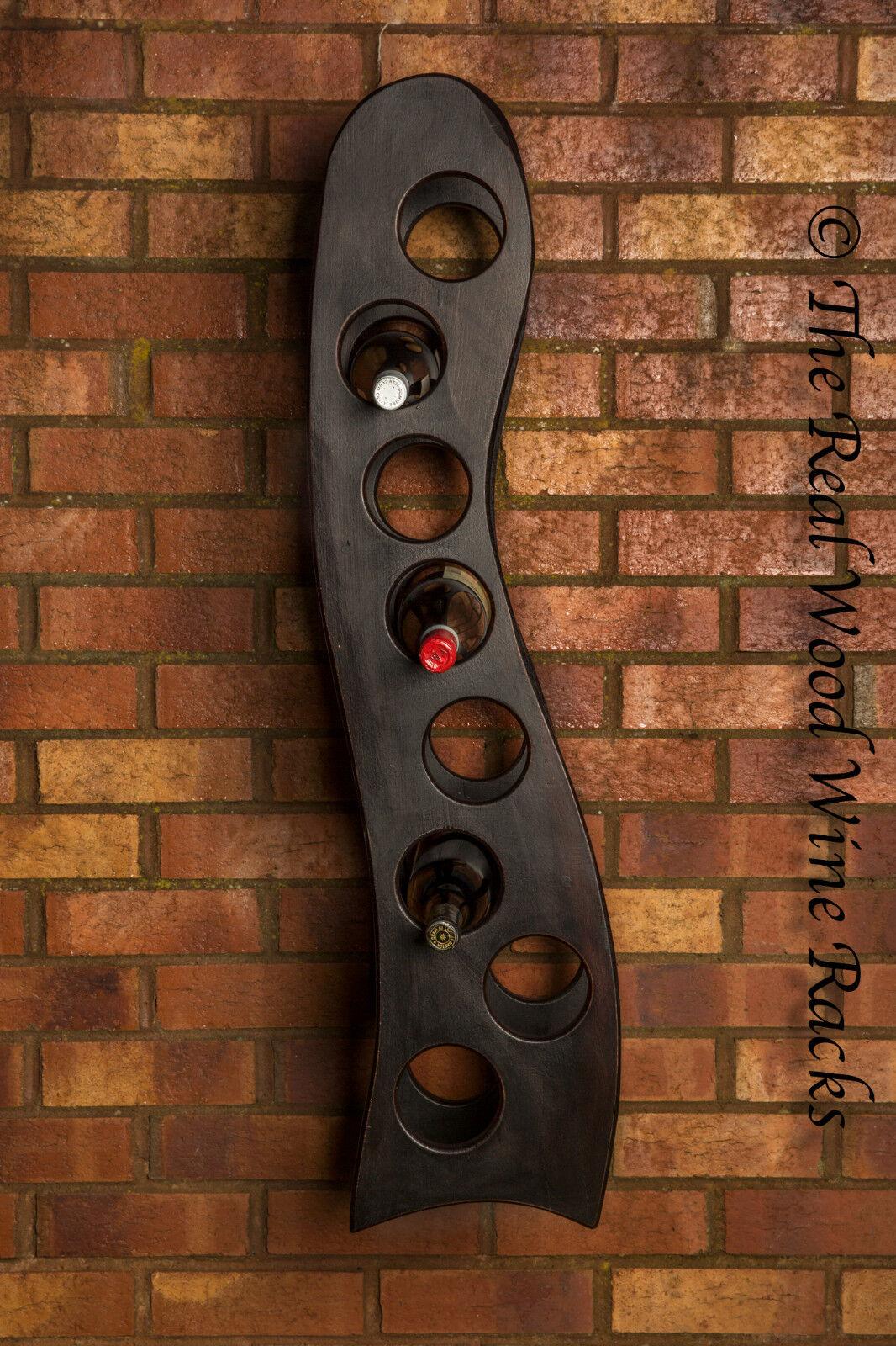 Nouveau en Bois Véritable casier à vin ARMOIRE, 8 bouteilles Rook Hanging 8 WENGE, cuisine bar