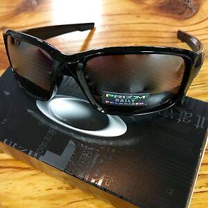 4ffdc48824 Image is loading Oakley-Straightlink-Sunglasses-Polished-Black-Prizm-Daily- Polarized-