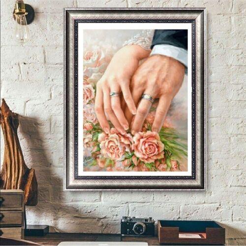 UK Ring Flower Full Drill 5D Diamond Painting Embroidery Cross Stitch Kit QZ