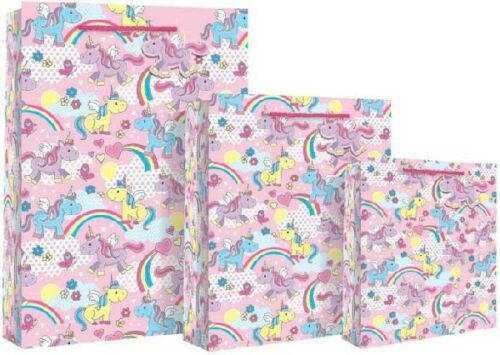 Unicorn Gift Bags for Present Birthday Party Kids Girls Ladies