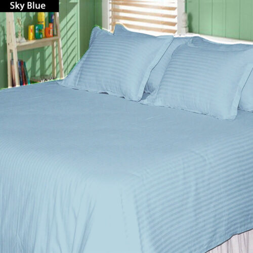 1000TC SOFT EGYPTIAN COTTON COMPLETE BEDDING ITEMS SELECT US SIZES STRIPED COLOR