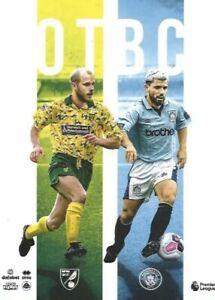 Norwich-City-v-Manchester-City-Premier-League-Programme-2019-20-Free-UK-Post