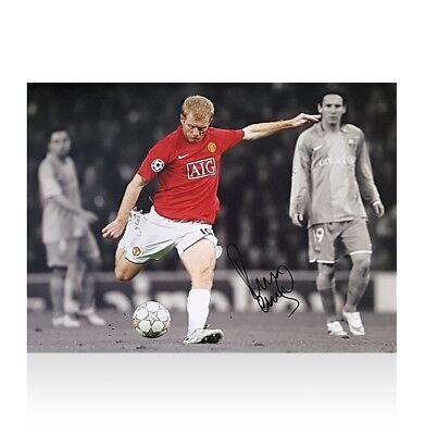 The Barcelona Goal Exclusive Memorabilia Paul Scholes Signed Manchester United Photograph