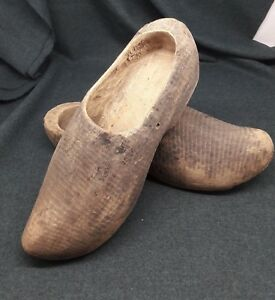 Antique-handmade-wooden-shoes