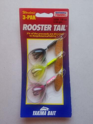 Warden/'s Rooster Tail 3 Pack Fishing Lure Various Weights