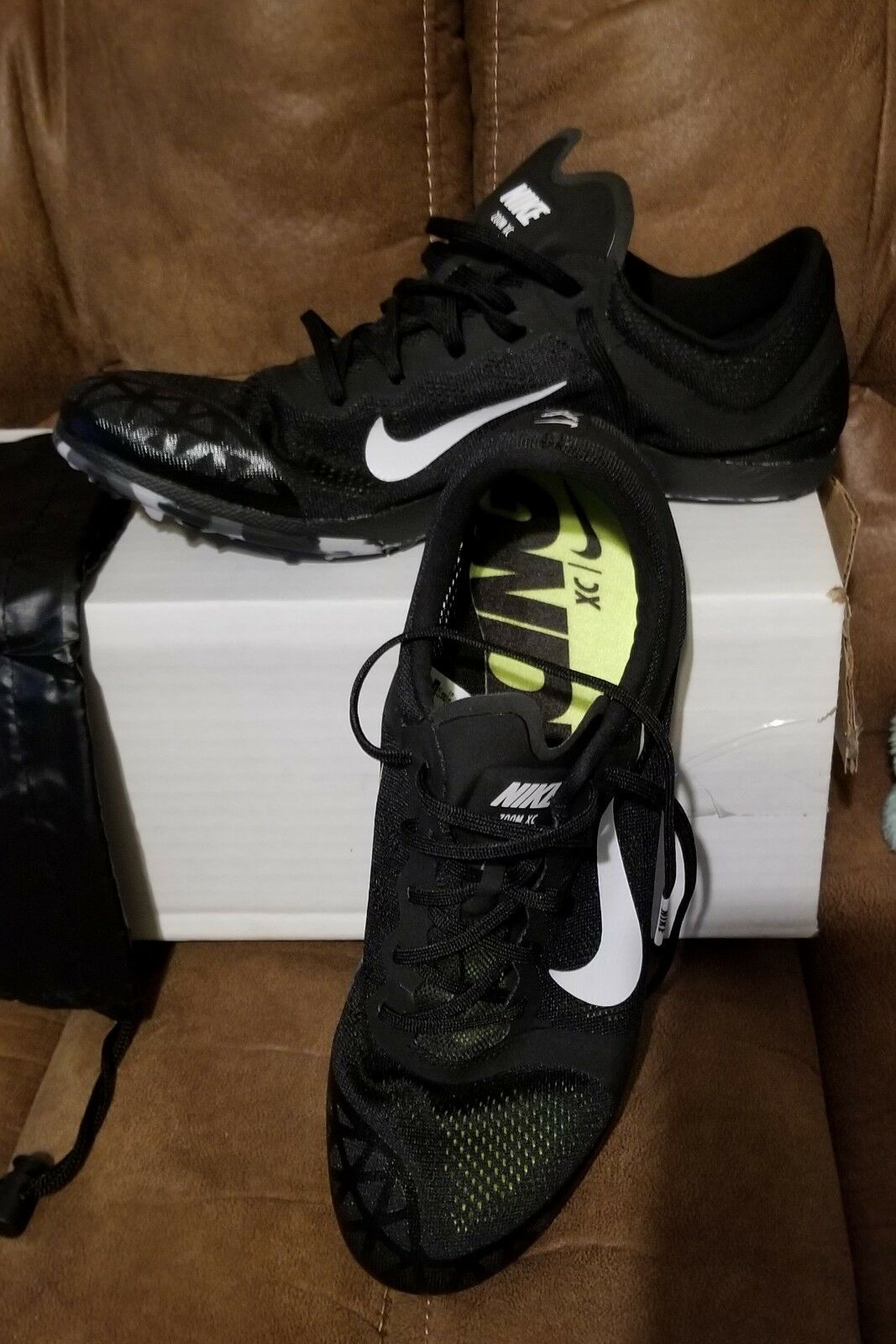 Mens Nike Zoom XC 3 Men's Cross Country Track Spikes Black 844132 001 Size 12