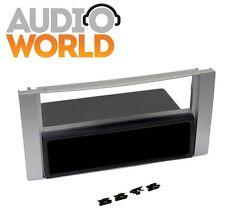 MASCHERINA AUTORADIO FORD FIESTA 06- TRANSIT 06 SILVER 2 ISO O 1 DIN + CASSETTO